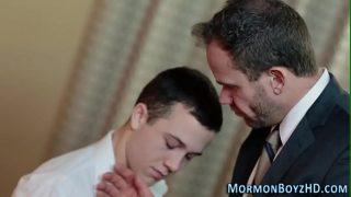 Elder rides mormon bishop